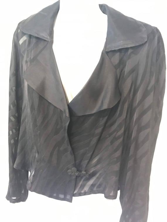 Vintage Slip Dress With Jacket, Black Slip Dress,