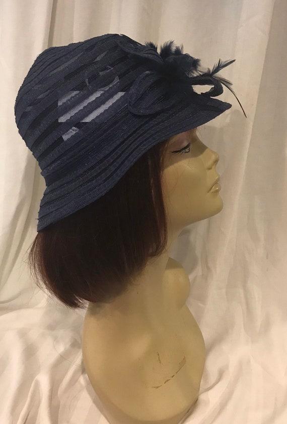 Attractive Hat, Vintage Blue Hat, Giovannio Hat, V
