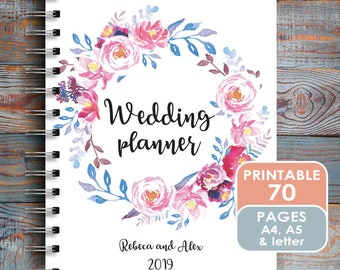 wedding planner printable printable wedding planner letter etsy