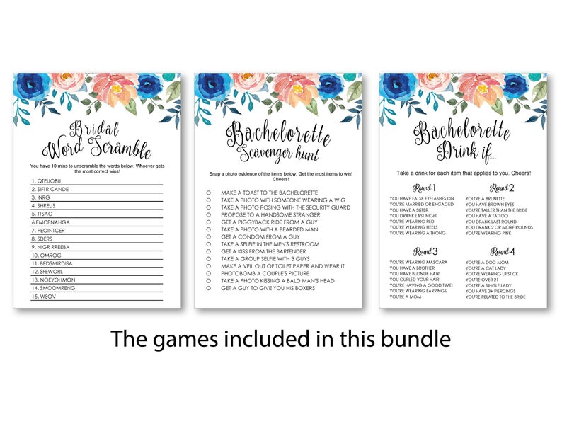 Bachelorette Party Games, Bridal Shower Games Printable, Bride or Groom  Game Idea, Bridal Shower Instant Download, Wedding Game Party