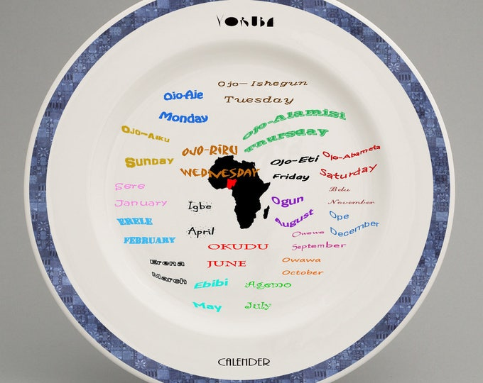 Yoruba children plate
