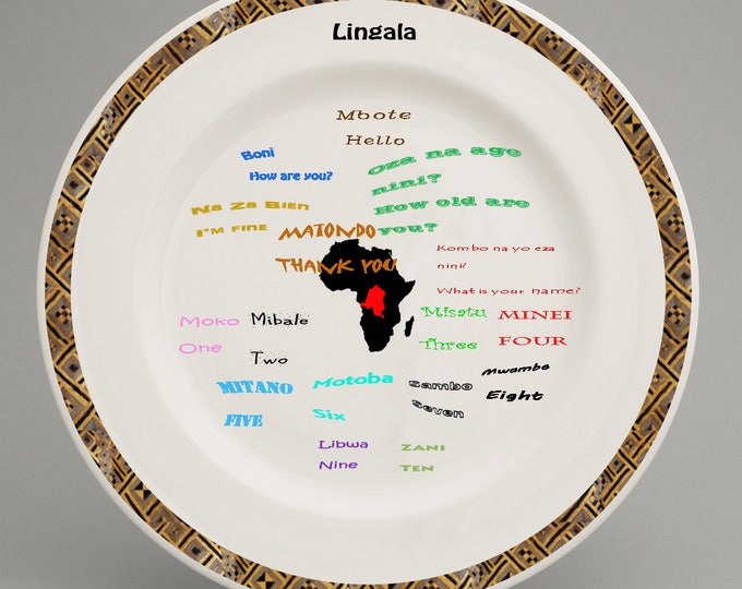 Congolese Inspired Childrens plate