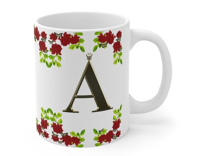 11oz Alphabet White Mug