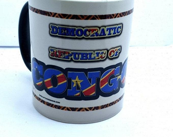 Democratic republic of Congo heat and reveal mug