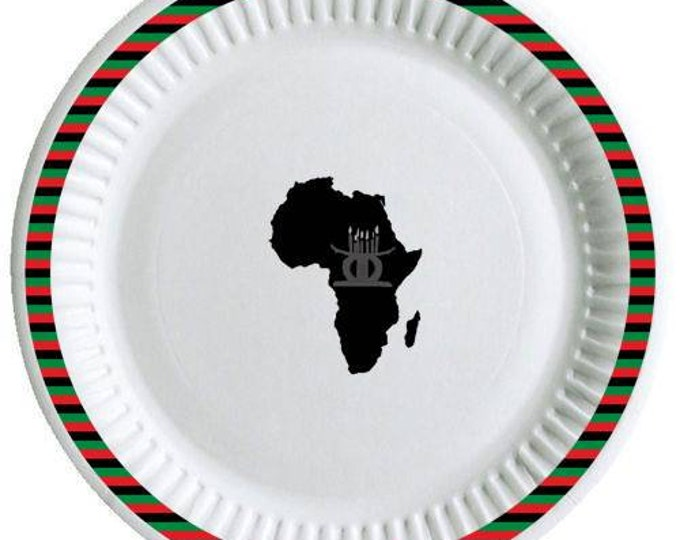 Kwanzaa paper plates 8 pieces in a pack