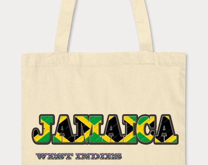 Large Jamaican tote bag. Shopping bag for life