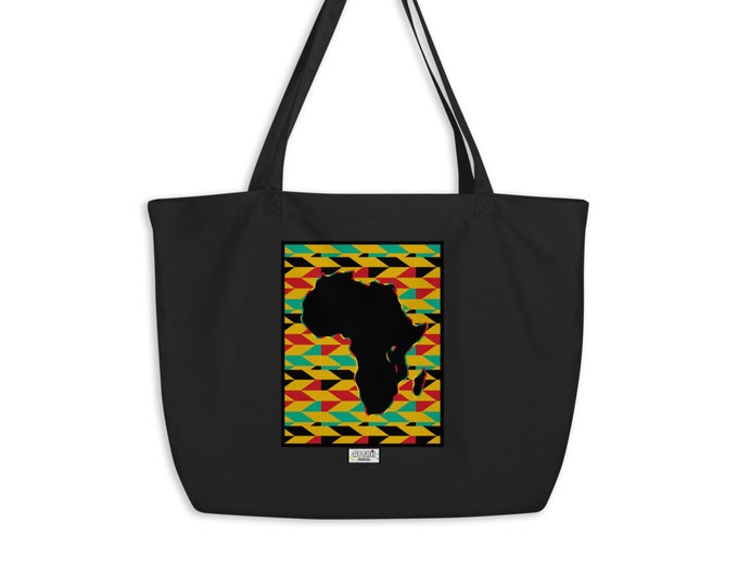 Large organic Africa tote bag