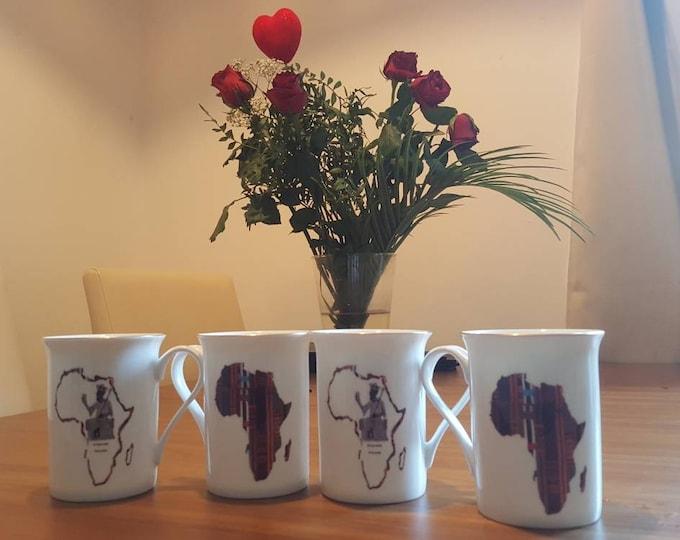 Set of 4 Mansa Musa mugs