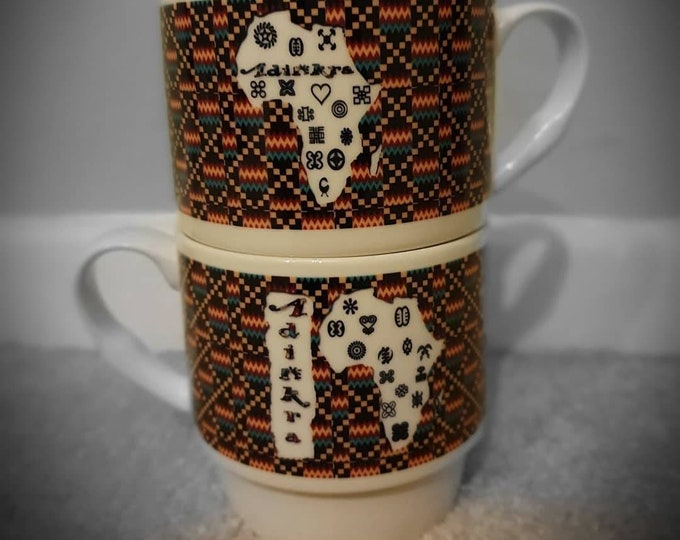 Adinkra mug set of 4