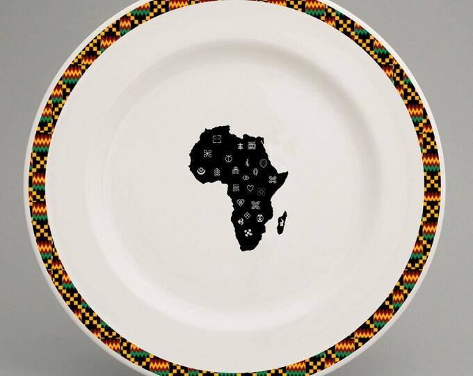 Ghanaian inspired dinner plate - Adinkra Range