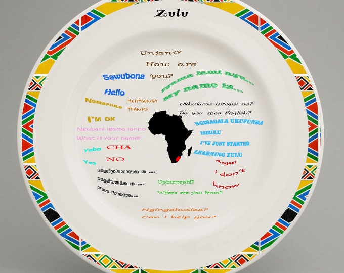 Educational Zulu language plate