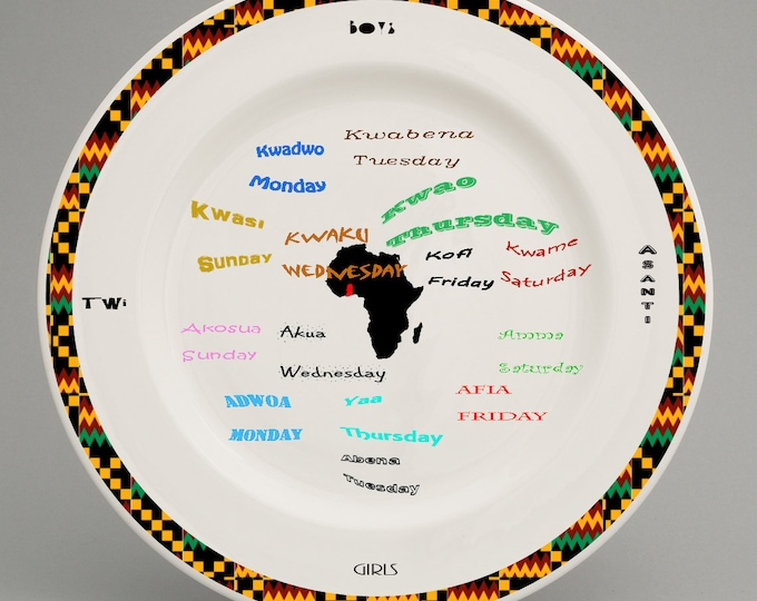 The language of Twi for Children on a plate