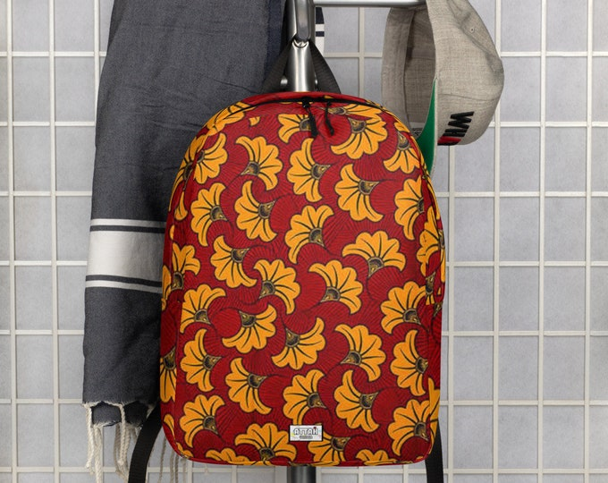 Minimalist Ankara yellow Backpack