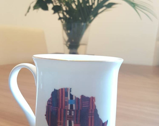 Mansa Musa gold trimmed mug