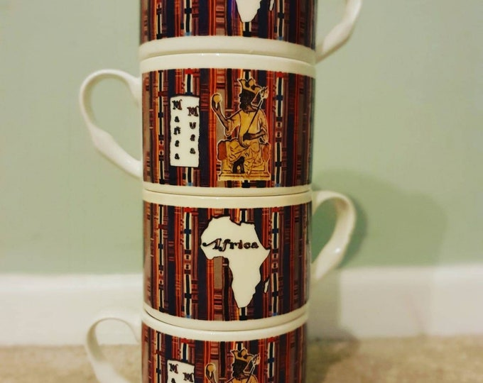 Set of 4 Mansa Musa mugs