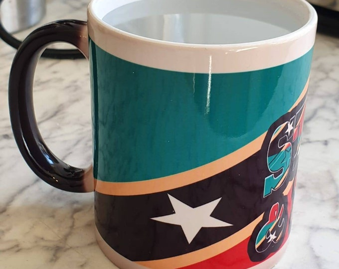 St Kitts and Nevis heat and reveal mug
