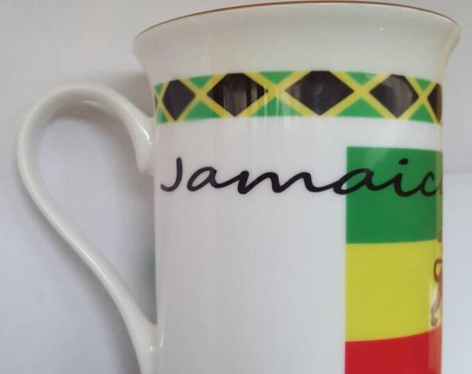 Gold trimmed mug Jamaica