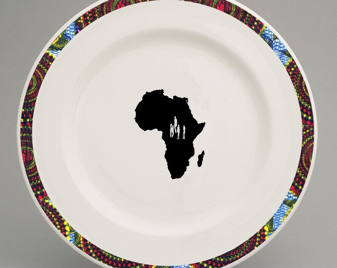 Maasai Mara inspired dinner plate