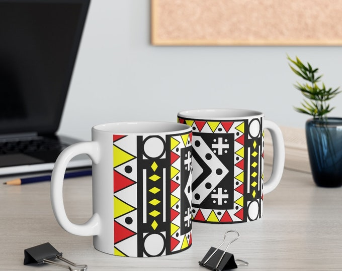 Samakaka Red 11oz White Mug
