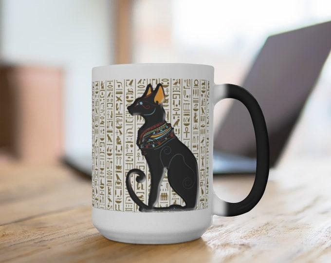 Ancient Egyptian Cat Color Changing Mug