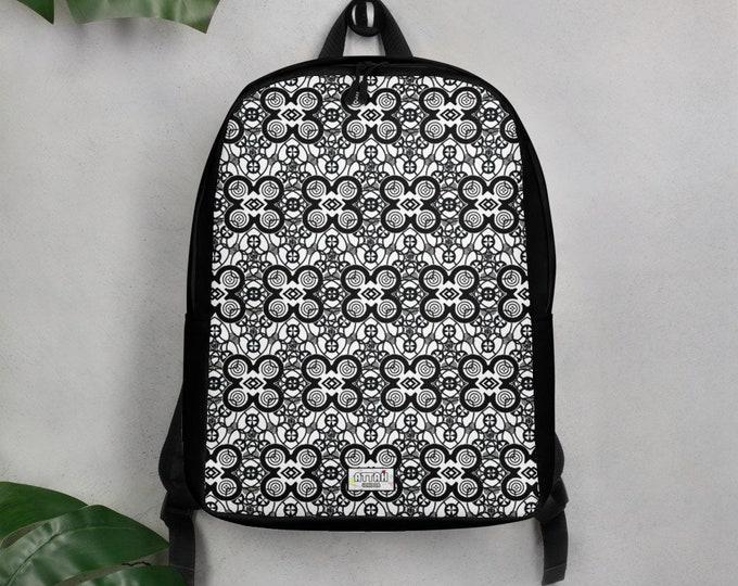 Mandala Adinkra Minimalist Backpack