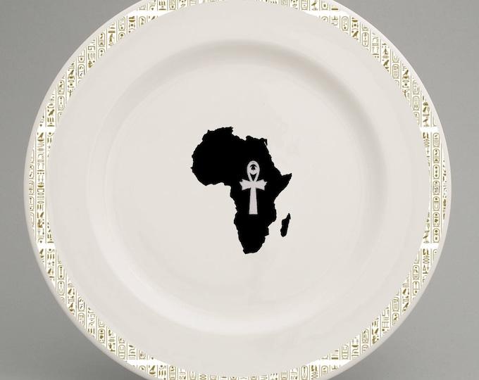 Ancient Egyptian inspired dinner plate