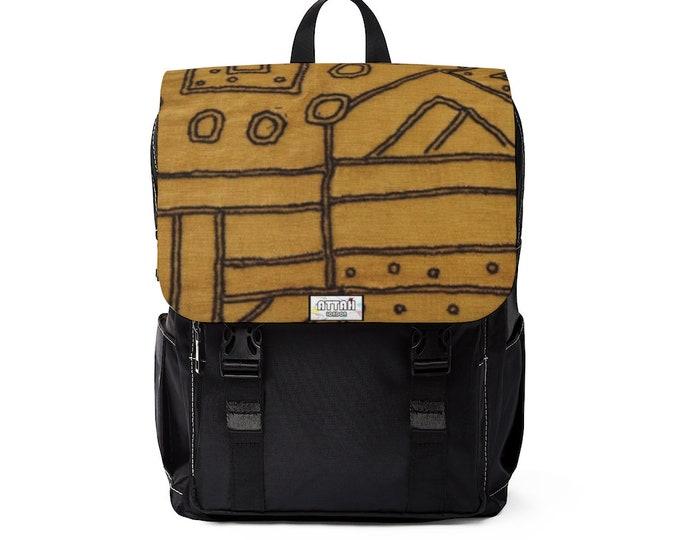 Kuba Raffia Backpack