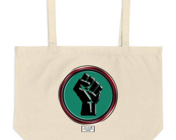 Black Fist Tote Bag