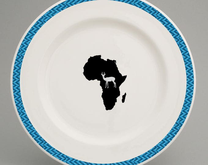 South African inspired dinner plate