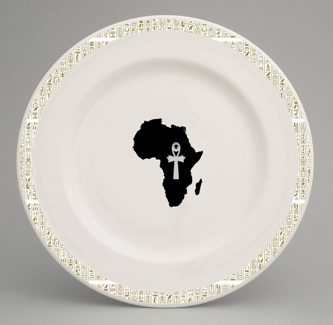 sc 1 st  Attah Designs & Ancient Egyptian inspired dinner plate