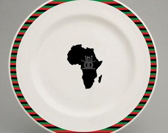 Pan-African inspired dinner plate