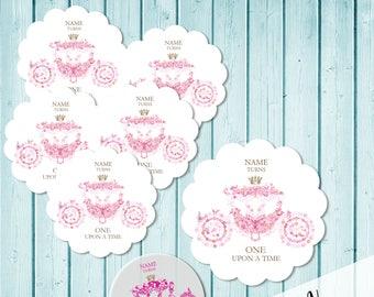 Cinderella Princess Party Cupcake Topper + logo