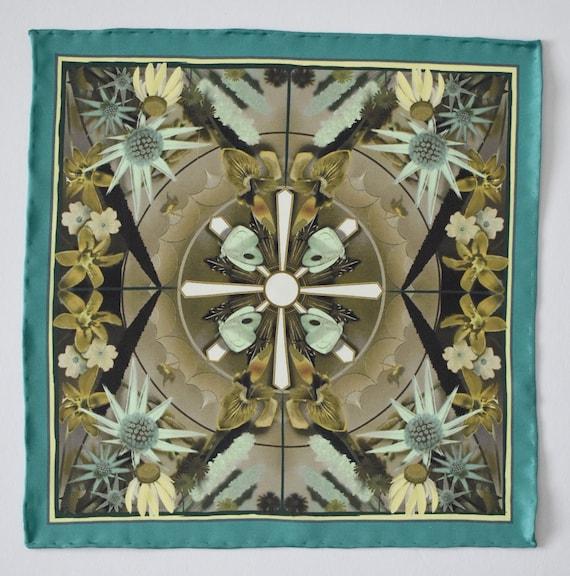 Floral Pocket Square Groom Handkerchief  Wedding Handkerchief Set  William Morris