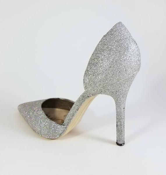 f886ca3c98d9 Silver bling wedding heels silver bridal heels sparkle etsy jpg 570x604 Sparkle  heels