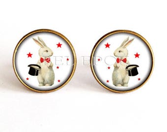 Rabbit magician - jewelry men cufflinks