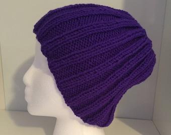 Handknit Ribbed Hat
