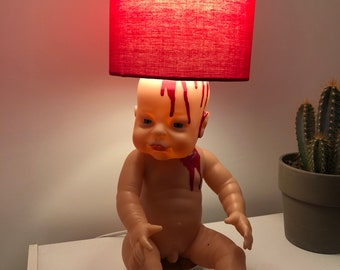 Scary doll lamps | Etsy