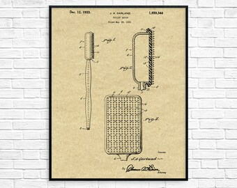 Toilet paper roll patent print bathroom decor vintage toilet brush patent toilet brush design lavatory loo decor toilet decorbathroom poster bathroom wall art toilet brush blueprint malvernweather Images