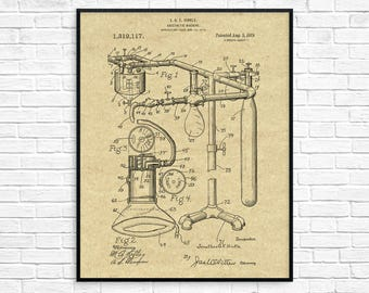 Medical patent etsy patent anesthetic machine art print doctors office poster medical surgery hospital anesthesia wall art medicine medical design malvernweather Choice Image