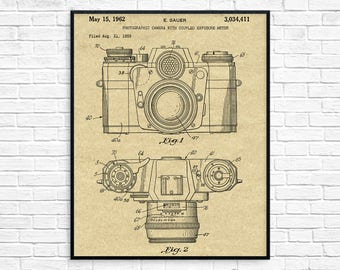 Camera blueprint etsy camera patent poster camera patent camera print camera wall art camera decor malvernweather Images
