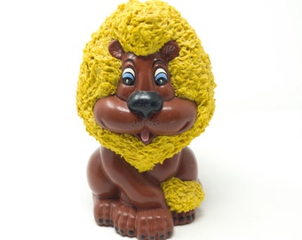 Anthropomorphic Lion Bank, Spaghetti Textured, Retro & Groovy made in Japan circa 1950's
