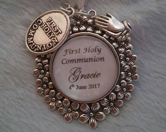 Custom made First 1st Holy Communion Personalised charm keepsake gift present