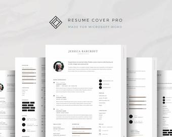 Professional Resume Template for Microsoft Word, Modern Resume, CV Template, Cover Letter, Modern CV, 7-Page Resume Bundle