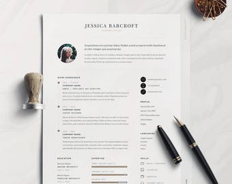 Professional Resume Template & Cover Letter + Icon Set for Microsoft Word | 7 Page Pack | Professional CV | Instant Download |