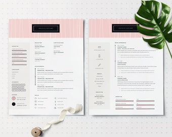 Modern CV Template | Resume for MS Word | 1, 2 & 3 Page Resume Template | Free Icon Set | Instant Download CV Template