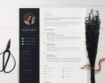 Minimalist Resume Template for Word | MS Word CV | Modern Resume | Professional Resume | Creative Template | Free Icon Set