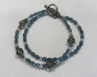 Shades of Gray Double Strand Bracelet