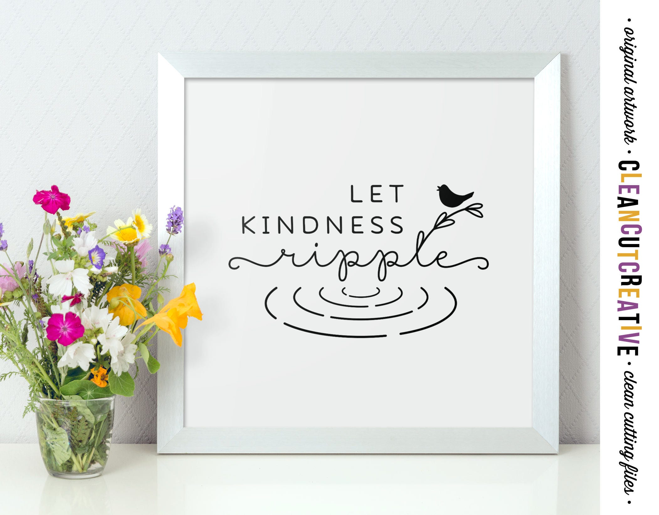 Printable Wall Art Let Kindness Ripple Pdf Jpg Sayings Quote Etsy