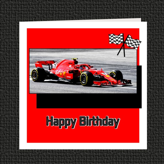 Kimi Rikknen F1 Birthday Card Can Be Personalised Etsy