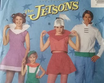 Vintage 1991 The Jetsons Family Couples Costume Sewing Pattern McCalls 5588 Adult size small (32 1/2- 34) UNCUT Great Couples Costume! RARE  sc 1 st  Etsy : anchorman couples costume  - Germanpascual.Com